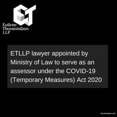 ETLLP lawyer appointed by Ministry of Law to serve as...