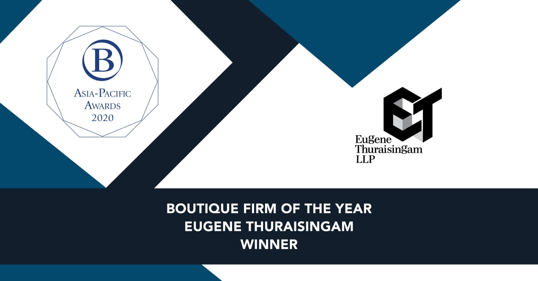 Eugene Thuraisingam LLP recognised as Benchmark's leading boutique firm in...