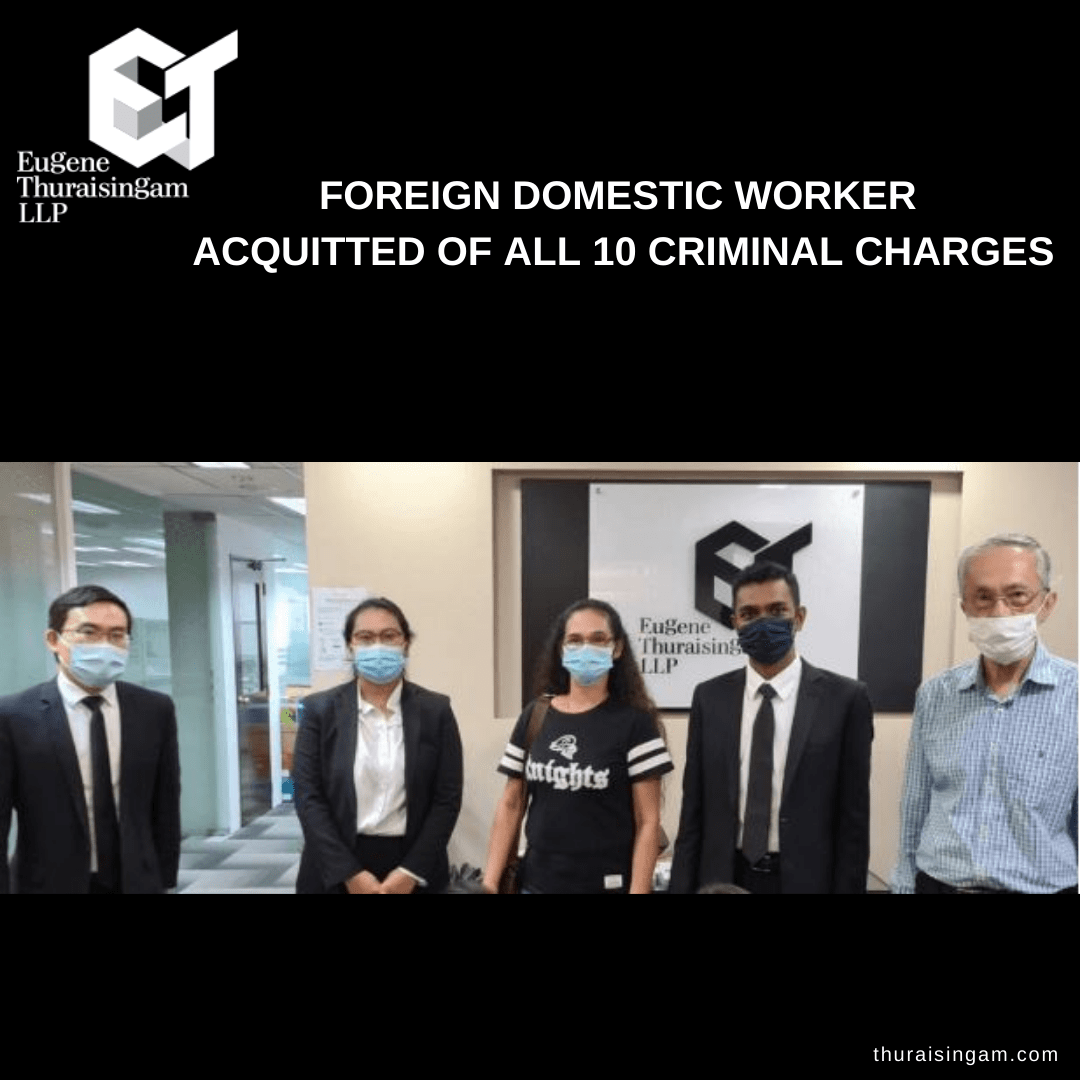 Foreign Domestic Worker in Singapore Acquitted of 10 Charges