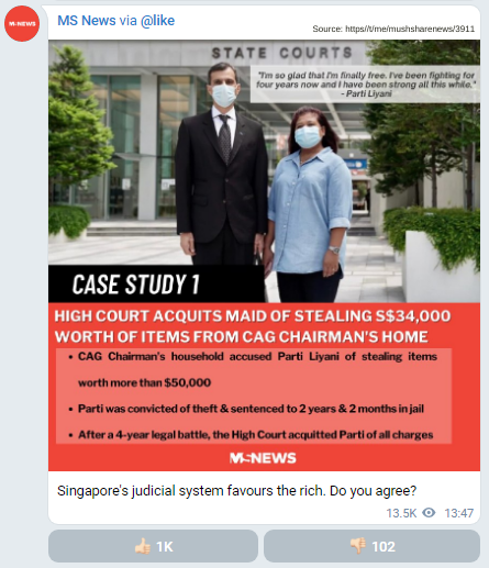 Parti Liyani: Does Singapore's Judicial System favour the rich?