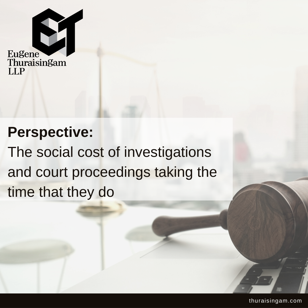 Perspective: The social cost of investigations and court proceedings taking...